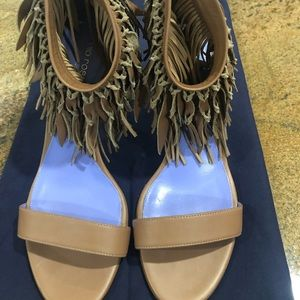 Sergio Rossi Leather Strap Heels